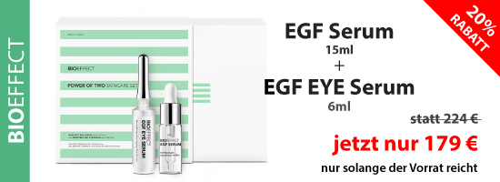Bioeffect EGF Serum + EGF EYE Serum im Angebot